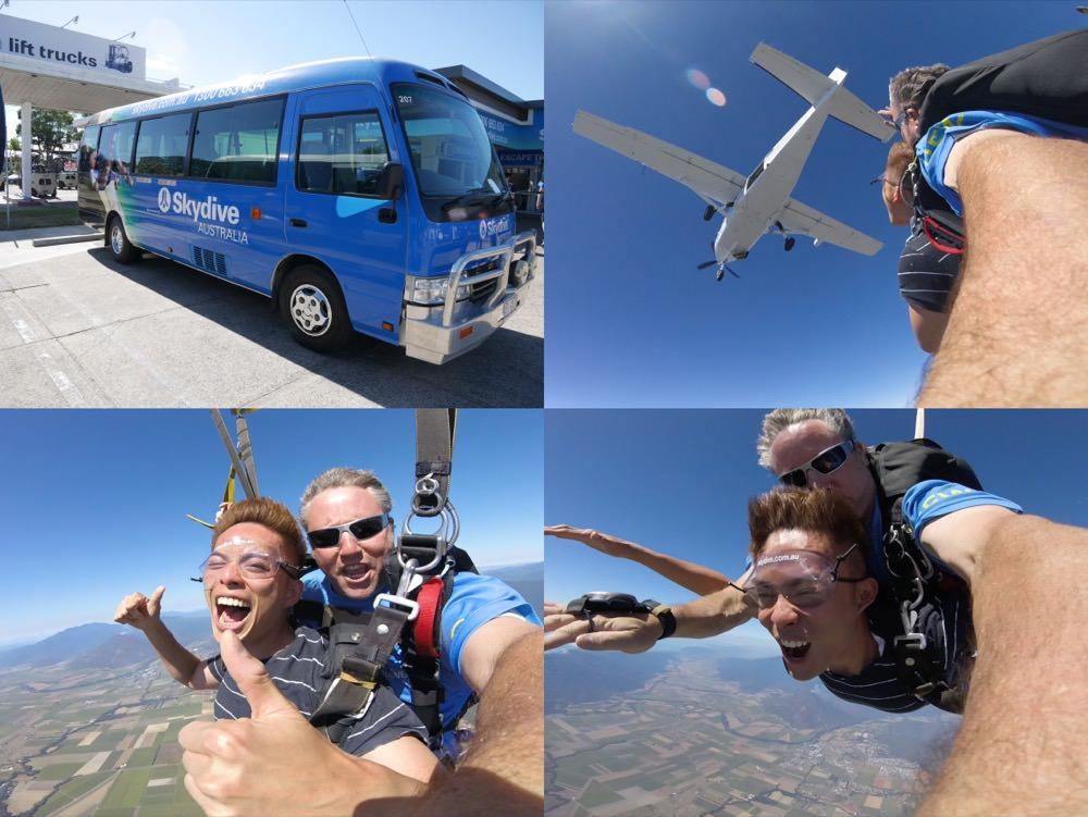 澳洲|澳洲必玩 凱恩斯高空跳傘 –  14000英呎的自我極限挑戰,我從飛機上跳下來了!