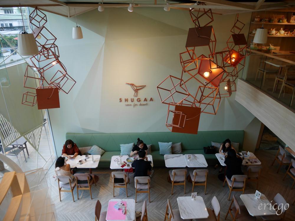 曼谷|SHUGAA 甜點咖啡廳推薦 – 少女心大爆發的粉嫩甜蜜幾何空間