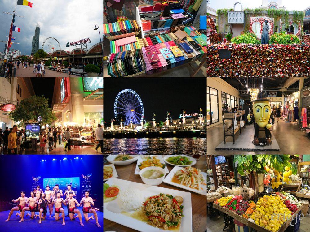 曼谷|Asiatique 河濱夜市 – 美食推薦、交通方式、Muay Thai泰拳表演,曼谷必去!