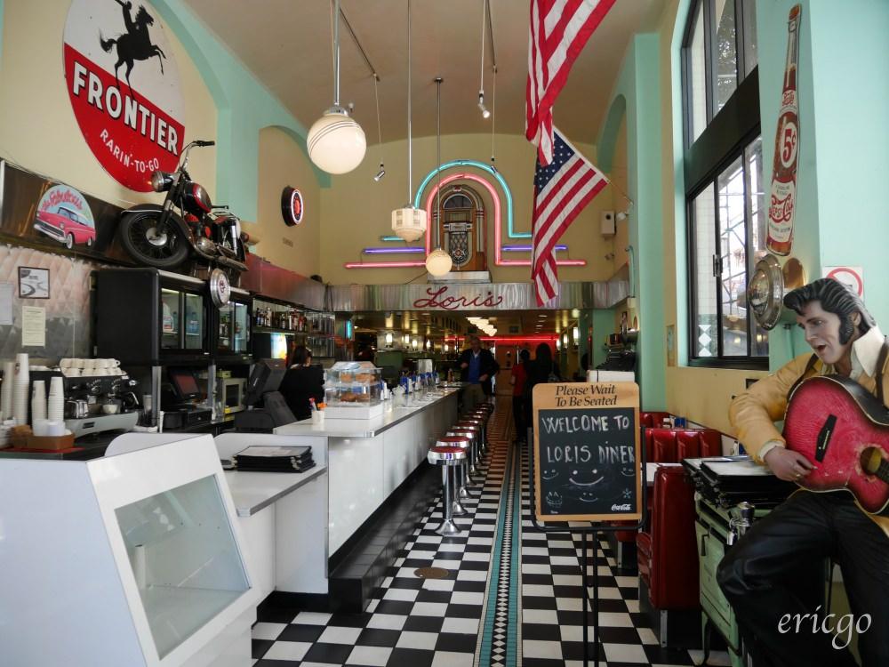 舊金山|Lori's Diner – 24小時營業,吃一份懷舊復古重返50年代的美式早午餐