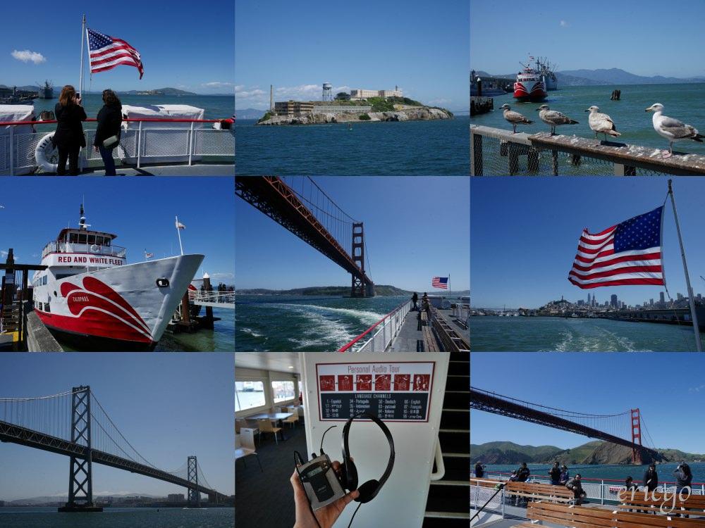 舊金山|漁人碼頭推薦 Red & White Fleet 遊船之旅 – 金門大橋、惡魔島、舊金山天際線一次擁有!