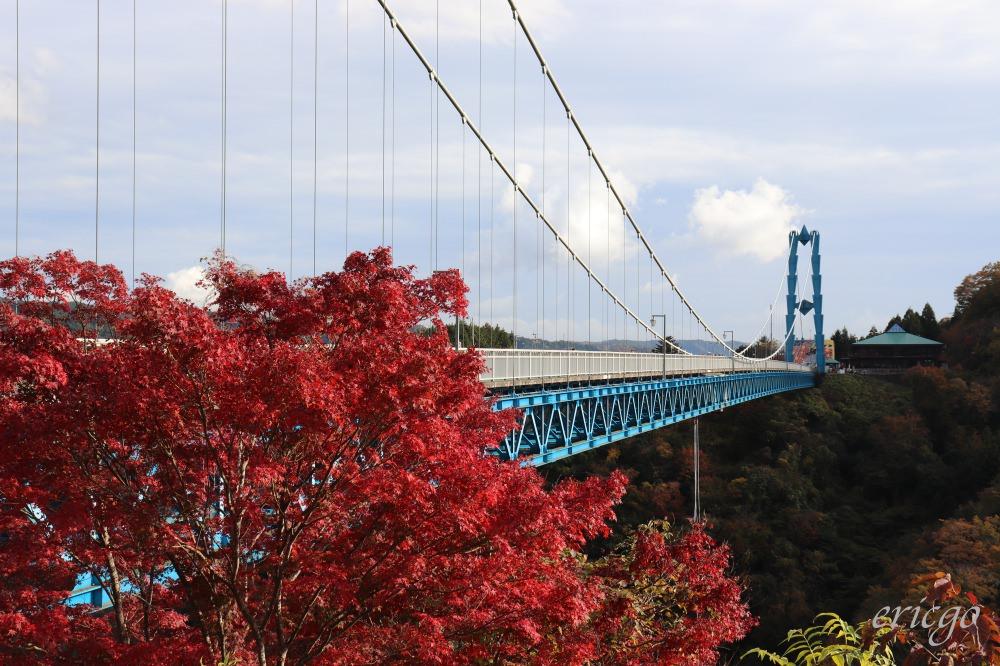 茨城|龍神大吊橋 – 楓紅絕景秘境,日本第一高的高空彈跳、龍神峽谷划獨木舟體驗!