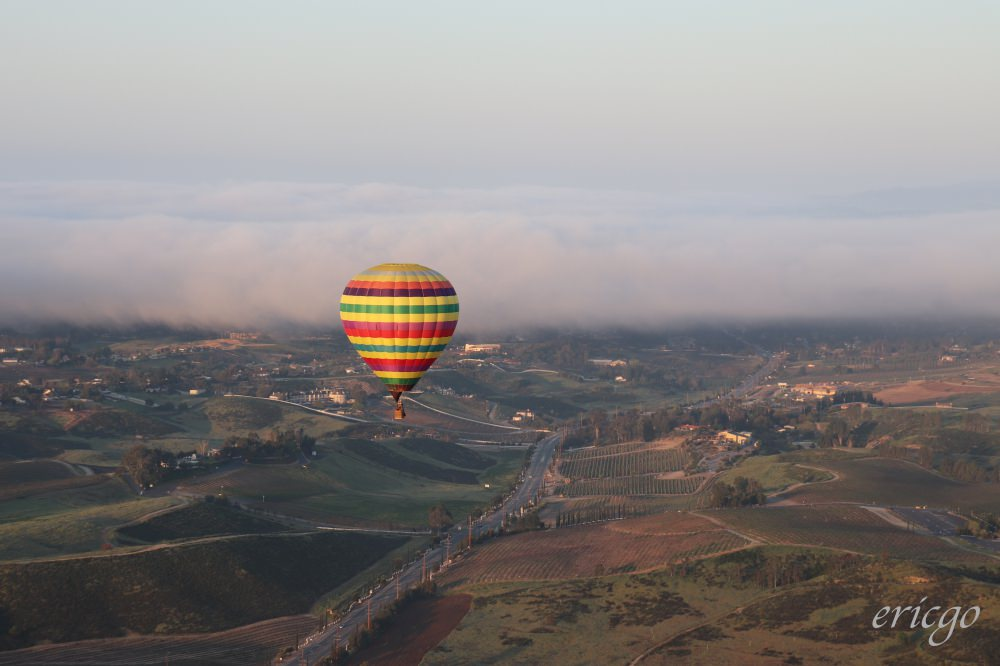 加州|A Grape Escape Hot Air Balloon Adventure – Temecula特曼庫拉,葡萄園空中冒險熱氣球之旅!