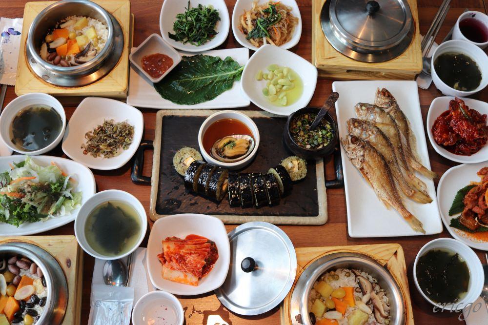釜山|다솥맛집 營養飯 – 南浦站樂天百貨美食推薦,豐富澎湃小菜、美味鮑魚紫菜飯卷