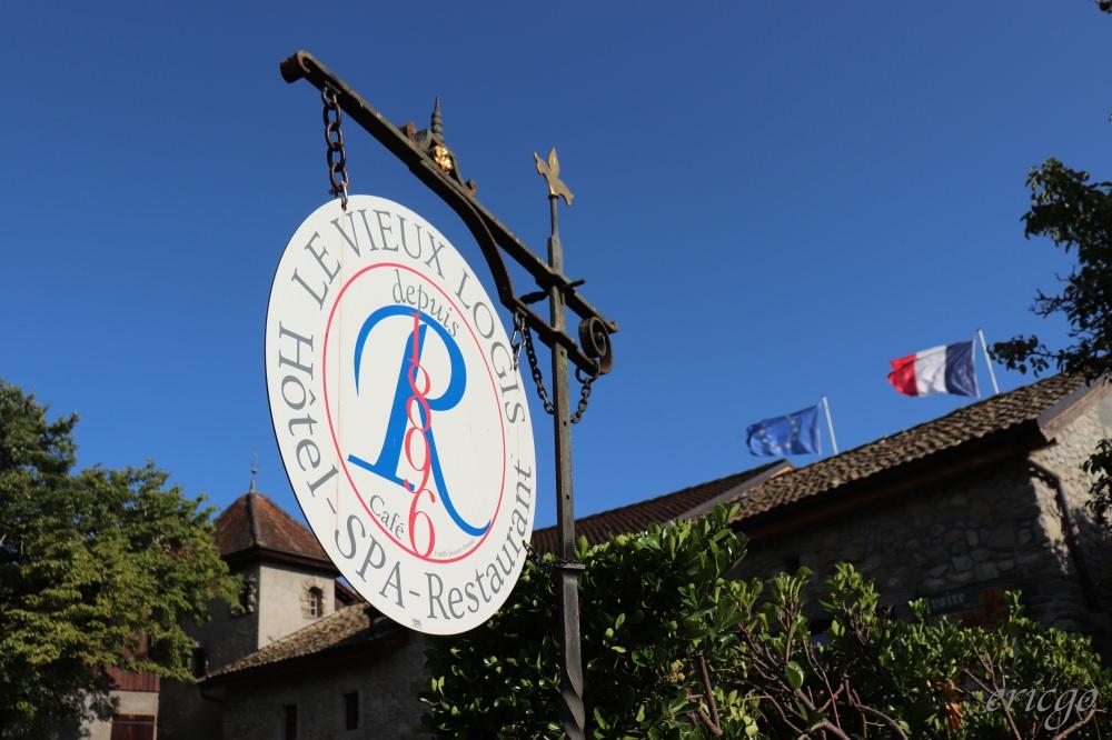 伊瓦爾|Le Vieux Logis – 絕美石頭古城住一晚,伊瓦爾Yvoire飯店住宿推薦