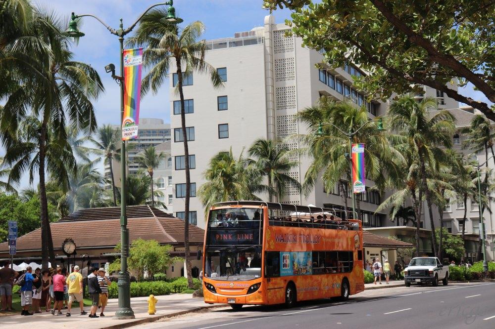 夏威夷|WAIKIKI TROLLEY「威基基叮噹車」怎麼搭? 不開車也可以檀香山自由行!