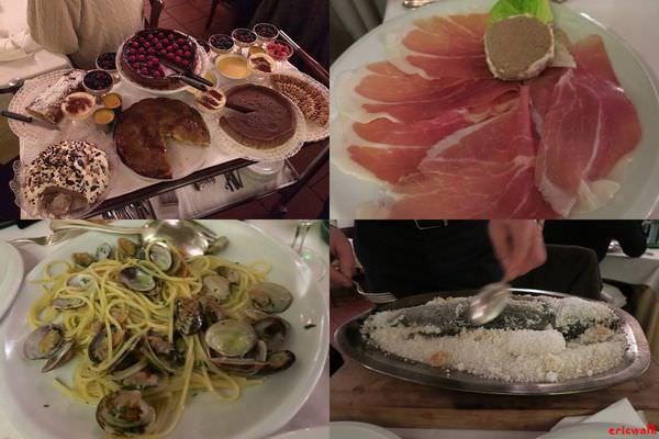[義大利] Ristorante Da Ilia 米蘭餐廳推薦 – 料理美味價位中等的義大利餐館,整車甜點自己選