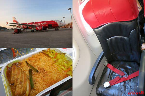 [沙巴] 亞洲航空AirAsia亞庇回台北 – 幸運免費升等NT350熱選座位,亞航機上購買美味餐點介紹記錄