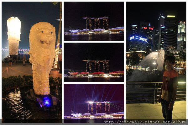 [新加坡] Merlion Park魚尾獅公園 – 欣賞每晚免費金沙酒店奇幻彌漫聲光水舞秀