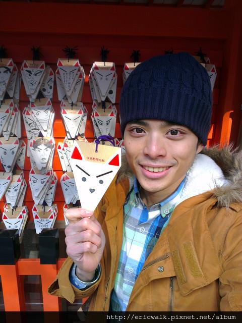 [2012冬-京都] 伏見稻荷大社(下) – 延綿千里的千本鳥居及超可愛狐狸繪馬